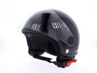 Helm -VESPA Visor 2- schwarz glänzend -