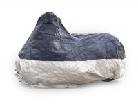 Abdeckplane, Faltgarage, Rollergarage -DELUXE Outdoor universal- medium - Blau/Silber