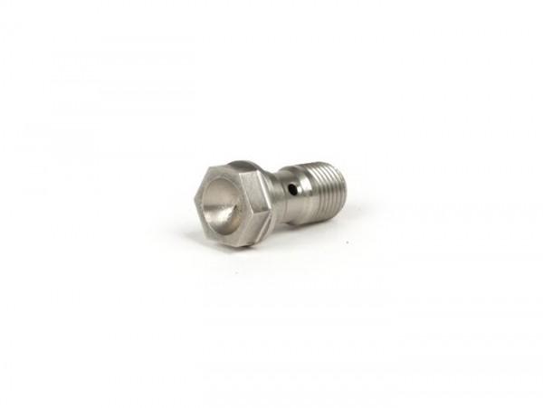 Banjo bolt for brake hose -ALLEGRI, M10 x 1.00- stainless steel - wrench size 12mm