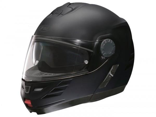Helm -FM-HELMETS RS71 (Made in Italy)- Klapphelm schwarz matt - M (57-58 cm)