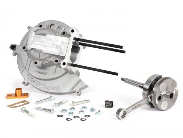 Engine casing -PINASCO Power Casing Master 46x43 - Piaggio Ciao, Bravo, SI, Boxer, Sp.12mm