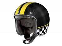 Helmet -X-LITE, X-201 Ultra Carbon Willow Springs- open face helmet, carbon - yellow - XXXL (64cm)