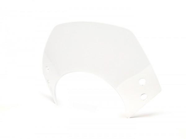 Windschutzscheibe ohne Halter -MOTO NOSTRA, b=340mm, h=105mm- Vespa GT, GTL, GTS, GTS Super 125-300ccm - farblos