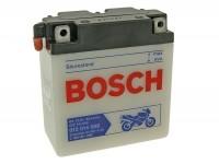 Batterie -Standard BOSCH 6N11A-3A- 6V 12Ah -122x62x132mm (inkl. Säurepack) - Vespa 150 (T2, T3), Vespa GS150 / GS3 (VDTS - deutsche Modelle), V50 Special Elestart (2x benötigt)