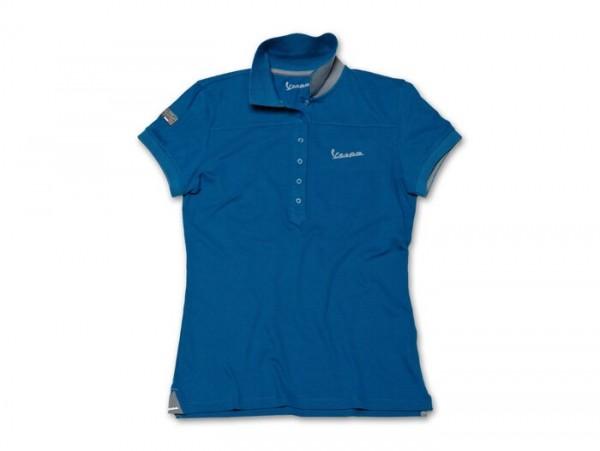 Polo-Shirt Damen -VESPA- blau - XL