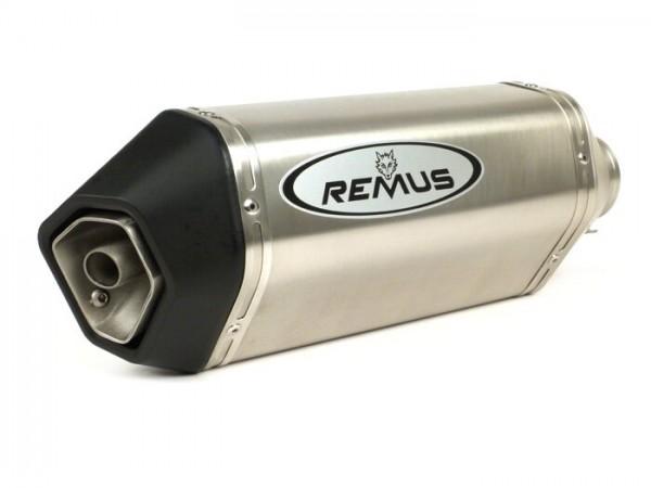 Silencer -REMUS- Ø=55mm, Euro3 (-2016) - Vespa LX 125-150ie 3V, Vespa S 125-150ie 3V, Vespa Primavera 125-150ie 3V, Vespa Sprint 125-150ie 3V, Vespa 946 -  silver stainless steel