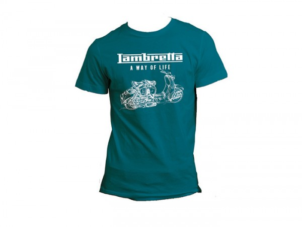 T-shirt -LAMBRETTA - A way of life- homme - bleu - S