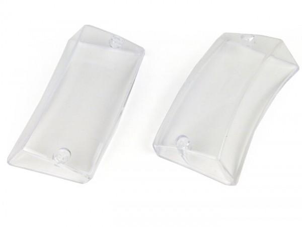 Blinkergläser -BGM ORIGINAL 2er Set- Vespa PX80, PX125, PX150, PX200, T5 125cc - Klarglas - vorne