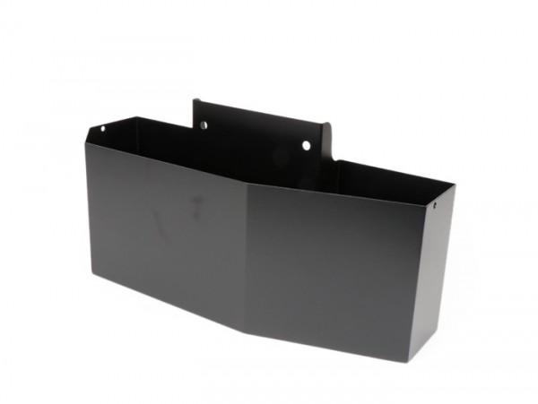 Caja herramientas para cófano -MRP grande (410x158x125/80mm)- Vespa PX, T5 125cc - negro