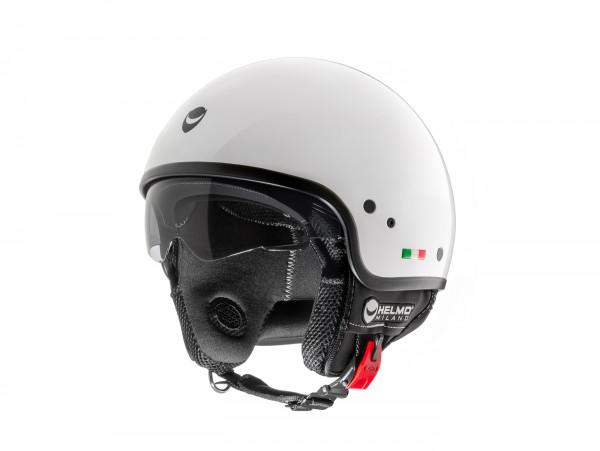 Helm -HELMO MILANO- Demi Jet, Puro, pearl white - XS (53-54cm)