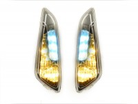Pair of indicators -POWER 1 LED daytime running light (E-mark)- Vespa Primavera, Sprint - colourless - front - smooth lens